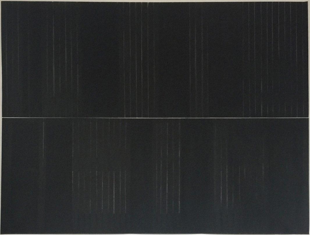 licht II 2-teilig 2016 tusche/oel auf papier 118 x 155 cm