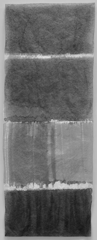 le champ vague 2018 tusche auf seidenpapier 43 x 17 cm