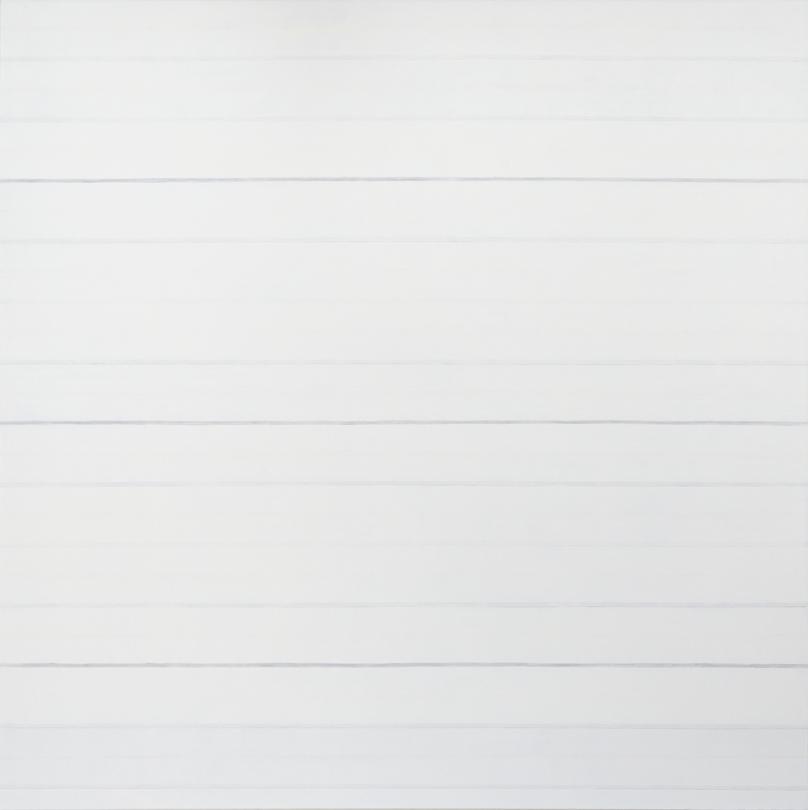 milchweiss  2014  oel/graphit auf baumwolle  160 x 160 cm